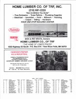 North Township Owners Directory, Ad - Home Lumber Co. of TRF, Hanson's Repair AG and Industrial, Pennington County 1998